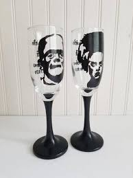 glasses hand painted champagne glass