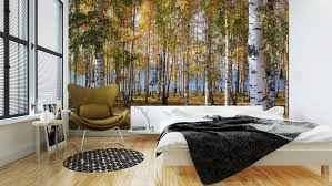 Custom Size 3d Photo Mural Birch Forest Landscape Removable Wall Papers Self Adhesive Vinyl Wall Sticker Art Home Decor Wall Stickers Aliexpress