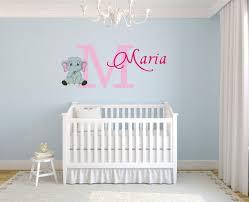 Personalized Name Vinyl Decal Sticker Custom Initial Wall Art Baby Girl Nursery Elephant Decor 16 Inches X 26 Inches Walmart Com Walmart Com