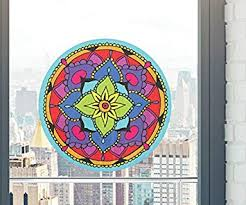 Amazon Com Yadda Yadda Design Co Mandala Floral Mandala See Through Vinyl Window Decal Sticker Copyright 5 Inch Dia Color Choices Medium Blue Automotive
