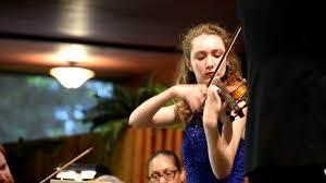 Emma Johnson performing Lark Ascending for violin and orchestra ...