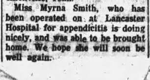 Miss Myrna Smith is home from the hospital - Newspapers.com