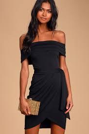 chic black dress bodycon dress off