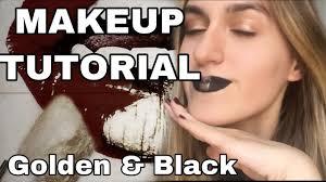 makeup tutorial black and golden
