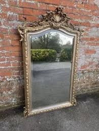 large antique silver mirror large