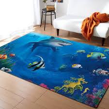 Ocean World Shark 3d Print Parlor Area Rug Kids Theme Room Decor Rugs Memory Foam Antiskid Mat Home Soft Carpets For Living Room Carpet Aliexpress