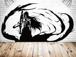 Wall Vinyl Sticker Decal Anime Manga Bleach Dark Ichigo Kurosaki Black Fire V030 751778745333 Ebay