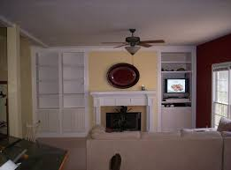 hand crafted living room built ins by
