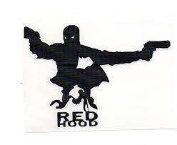 Amazon Com Dc Comics Batman 5 Red Hood Silhouette Decal Sticker For Laptop Car Window Tablet Skateboard Black Everything Else