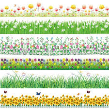 2017 Spring Flower Baseboard Wall Stickers Grass Plants Border Wallpaper Home Bedroom Nursery Party Decor Garde Wall Stickers Grass Flower Border Paper Flowers