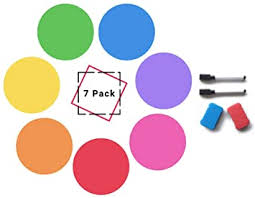Amazon Com Dry Erase Dots For Tables Wall Pops Set Of 7 Dry Erase Circles Removable Pet Vinyl For Easy Erasing 7 Multicolor Whiteboard Stickers Work On Tables Whiteboard Or Wall