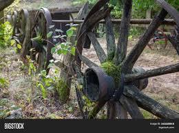 Ancient Wagon Wheels Image Photo Free Trial Bigstock