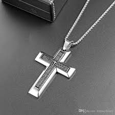 stainless steel necklace prayer pendant