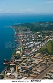 Antena de Honiara, capital de las Islas Salomón, el Pacífico ...