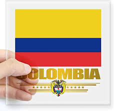 Amazon Com Cafepress Flag Of Colombia Sticker Square Bumper Sticker Car Decal 3 X3 Small Or 5 X5 Large Home Kitchen