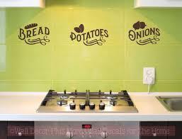 Kitchen Storage Wall Decals Farmhouse Bread Potatoes Onions Vinyl Stickers 5x23 Inch Chocolate Brown Walmart Com Walmart Com