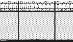 Fence Wire Mesh Barbed Wire Seamless Vector Silhouette Stock Illustration Download Image Now Istock