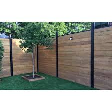 Slipfence 70 In X 1 1 4 In X 1 1 4 In Black Aluminum Fence Channels For 6 Ft High Fence 2 Per Pack Includes Screws Sf2 Hck06 The Home Depot