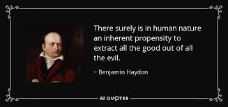 benjamin haydon quote there surely is in human nature an inherent