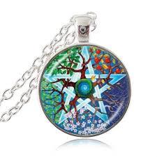 pentagram tree of life pendant necklace