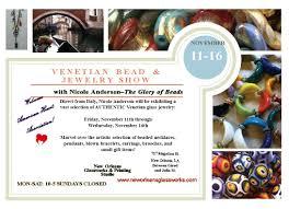 hand n venetian bead trunk show