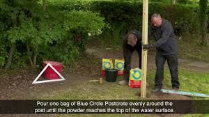 How To Use Postcrete Blue Circle Cement