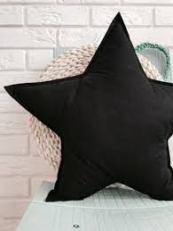 Black Star Pillow Cushion Children S Pillow Decorative Etsy