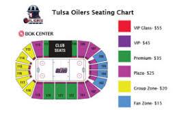 bok center seating chart tulsa oilers