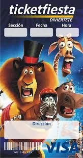 Madagascar Ticketmaster Invitaciones Para Fiestas Infantiles