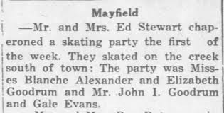 Dad and Aunt Beth at an ice skating party. Ed and Addie Stewart  chaperoning. - Newspapers.com