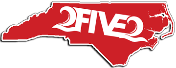 2five2 Red Nc State Sticker Decal