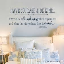 Have Courage Princess Cinderella Kids Wall Decals Old Barn Rescue