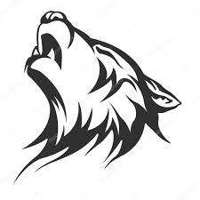 Tribal Husky Tattoo Tribal Tattoo Wolf Designs Stock Vector