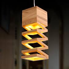 lamps retro pendant lights wood lamp
