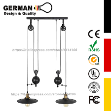hanging pulley pendant lights