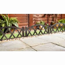 Edwardian Border Fence 4pk Decorative Fencing B M In 2020 Cheap Fence Panels Decorative Garden Fencing Cheap Fence