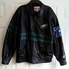 mens eagles leather jacket