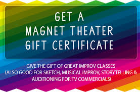 gift certificate magnet theater and