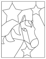 stained glass patterns horse