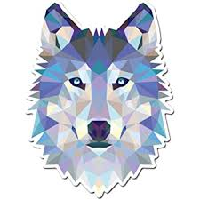 Amazon Com Wolf Modern Art Design Vinyl Sticker Car Window Bumper Laptop Select Size Home Kitchen