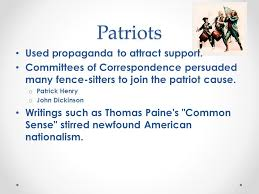 Patriots Vs Loyalists Loyalists About 20 Of Colonists Remained Loyal To King George Iii The Monarch And Leader Of Great Britain During The Time Of Ppt Download