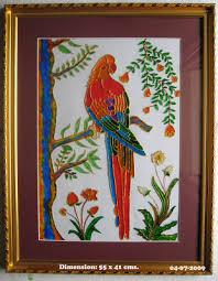 the paintings five colour parrot