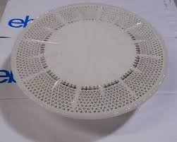 vintage milk glass footed cake stand by