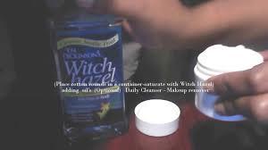 how to cleanse skin witch hazel diy