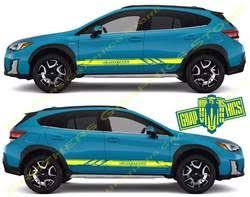 2x Decal Sticker Vinyl Side Racing Stripes For Subaru Crosstrek