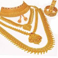 gold plated bridal jewellery set