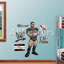 Wwe Wrestling Kids Cm Punk Wall Decal Sticker Wall Decal Allposters Com