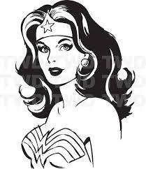 Vinyl Wall Decal Wonder Woman Silhouette Stencil Silhouette Vinyl