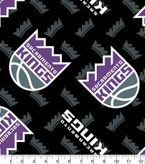 sacramento kings fleece fabric logo