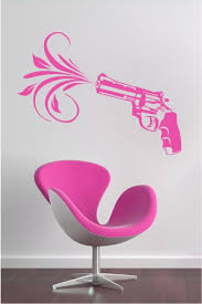 Pink Pistol Wall Decals Wall Stickers Art Without Boundaries Walltat Com